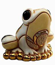More details for de rosa baby white frog figurine new in gift box
