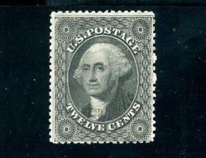 USAstamps Unused VF US Serie of 1857 Washington Scott 36b OG MHR + Cert