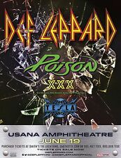 Def Leppard / Poison Xxx / Tesla 2017 Salt Lake City Concert Tour Poster