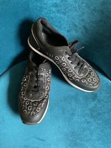 Guess Black Trainers Lace Up Size 6