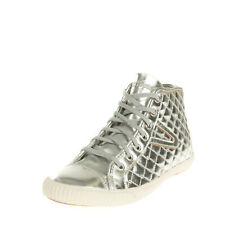 TOURNAMENT TRETORN T56 Faux Leather Sneakers EU38.5 UK5.5 US8 Metallic Quilted