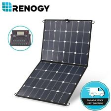 Renogy Lightweight 100W Eclipse Solar Panel Suitcase Folding 12V Battery Charger