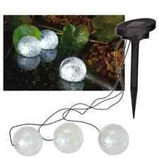 HI Solar LED Floating Pond Light 9 cm Black Transparent Outdoor Garden Ball