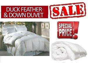 New Duck Feather & Down Duvet in Single Double King Super King Or Pillowcases