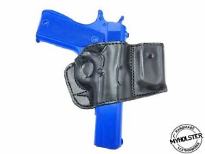 Rock Island .45 1911 Belt Holster with Mag Pouch Leather Holster