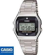 CASIO A158WEAD-1EF⎪A158WEAD-1⎪ORIGINAL⎪Vintage ICONIC⎪DIAMANTES⎪PLATA⎪RETRO