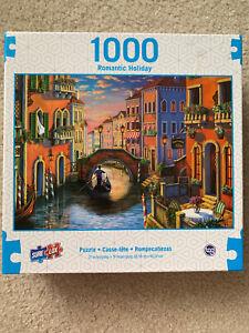 "Rare Sure-Lox Sunset in Venice 1000 piece 27"" x 19"" Romantic Fun Puzzle!"