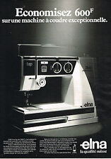 PUBLICITE ADVERTISING 114  1981  ELNA  machine à coudre STELLA TPS