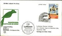 LUFTHANSA Boeing Erstflug MONTEVIDEO SANTIAGO DE CHILE Briefmarke Stamp URUGUAY