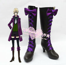Black Butler Alois Trancy High Heel Long Cosplay Boots Shoes H016