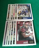 2020 Score Los Angeles Rams Team Set, Cam Akers RC 15 cards 4 RC