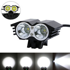 6000 Lumen 2x CREE U2 LED Head Front Bicycle Light Bike lamp Headlight Headlamp