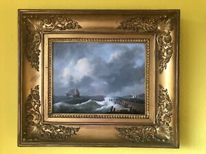 Emanuel de vries 1816-1875 Seestück Nederland Dordrecht