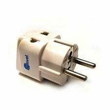 2 in 1 European Travel Adapter for Outlets.Type C, Type E, Type F