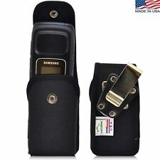 Turtleback Samsung Rugby 4 Vertical Black Nylon Snap Phone Pouch Holster Case