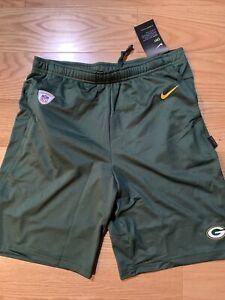 NIKE NFL Green Bay Packers DRI-FIT COACHES SHORT - Green Sz Small BNwT NKDN-063K