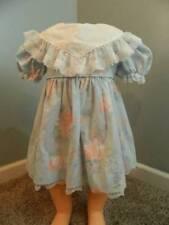 Vtg Bryan ruffle lace floral bishop dress size T3