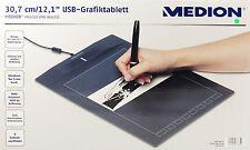 """Medion P82018 MD 86635 Grafiktablett USB Grafiker 12,1"""" 30,7 cm Grafik Tablet"""