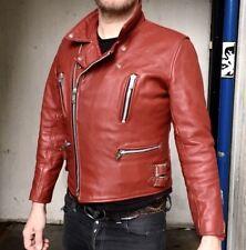 Vintage 70's Leather Lightning Plainsman Motorcycle Jacket  Size 40
