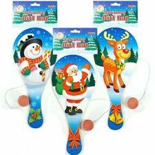 Weihnachten Holz Biff Paddel Bats & Gummiball Xmas Partypack für Kinder