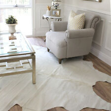 Solid Cream Cowhide Rug | High quality cow rugs from Brazil