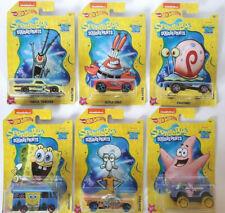 2019 NEW Hot Wheels Nickelodeon Spongebob Squarepants Cars Set of 6