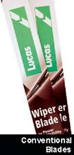 "FORD TOURNEO CONNECT 2002- LUCAS WINDSCREEN WIPER BLADES (PAIR) 22"" 20"""