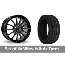 "4 x 17"" Fox Racing FX004 Black Alloy Wheel Rims and Tyres -  205/40/17"