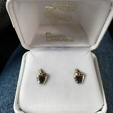 Dakota Designs Inc. Acorn Earrings 14K Gold and Sterling in original box