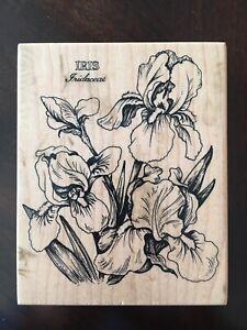 PSX Iris Botanical K-040 Rubber stamp