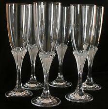 6 flûtes à champagne cristal d'Arques modèle Granville