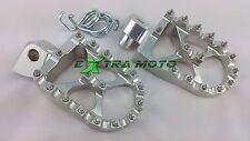 Pedane maggiorate alluminio CNC KTM EXC400 EXC500 EXC520 EXC 400 500 520 ARGENTO