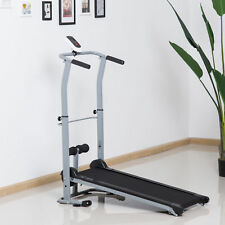 2 in 1 Folding Manual Walking Incline Treadmill Sit-up Bench Fitness Gym Machine