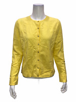 Isaac Mizrahi Women's Essentials Long Sleeves Cardigan Citron Small Size