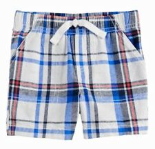 be12dde2e Jumping Beans Toddler Boys Blue & Red Plaid Shorts Sz 4t Navy Pool W/pockets