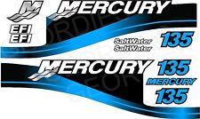 BLUE MERCURIO 135 fuoribordo 4 tempi motore Adesivi Decalcomania KIT MOTORE