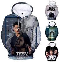Men Women Hoodie Sweatshirt 3D TEEN WOLF Print Jacket Coat Pullover Tops
