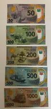 Mauritania 2017 set of 5 polymer banknotes UNC 50 100 200 500 1000 Ouguiya