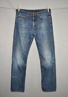 BANANA REPUBLIC $80 Distressed Slim Straight Leg Denim Jean Men's 33 X 32