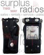 Used Motorola OEM Leather Holster HT1000 MTS2000 MTX8000 MTX9000 MTX