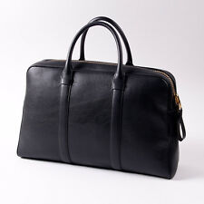 NWT $3460 TOM FORD Black Leather Large 'Trapeze' Travel Carryall Overnight Bag