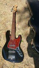 USA Fender American Jazz BASS V 2001 Deluxe Black  (5 String)
