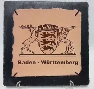 Schild, Tafel aus Leder und Schiefer inkl. Foto-, Wunschgravur! 20x20cm  TOP!!!