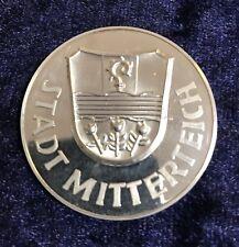 "Medaille Feinsilber 986/1000 Ag ""Stadt Mitterteich"""