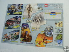 LEGO BROCHURE FLYER CATALOG TOYS TECHNIC 2000/2001 STAR WARS DUTCH 4 PAGES 024