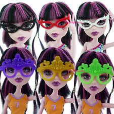 6 Handmade Pretty Cool Party Ball Mask Glasses Accessories For Monster High Doll