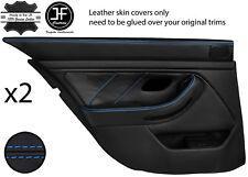 Blue Stitch Arrière 2X complet porte carte en cuir couvre Fits BMW 5 Series E39 95-03