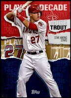 Mike Trout 2020 Topps Player of the Decade 5x7 Gold #MT-14 /10 Angels