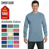 Comfort Colors Mens T-Shirt Long Sleeve Garment Dyed Preshrunk Tee C6014
