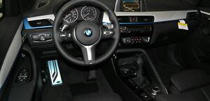 BMW OEM F48 X1 2016+ F39 X2 Aluminum Hexagon With Blue Accent Interior Trim Kit